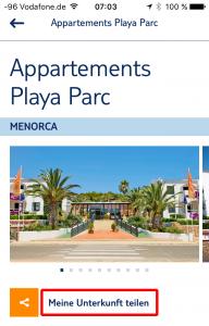 Playa Parc - Meine Unterkunft teilen